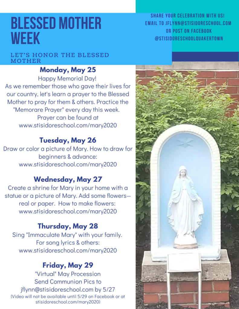 Blessed Mother Week May 25 - 29