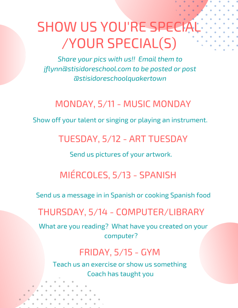 You're Special Week May 11 - May 15